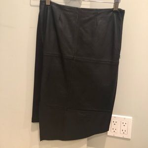 Trouve leather front panel skirt.